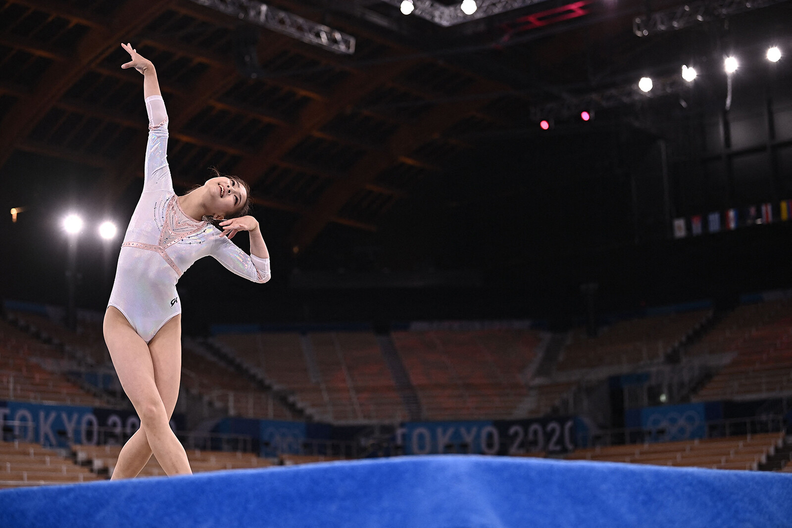 <i>Lionel Bonaventure/AFP/Getty Images</i><br/>South Korea's Yunseo Lee competes during the Tokyo Olympic Games.