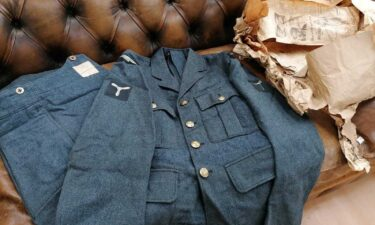 A British World War II Royal Air Force (RAF) pilot's uniform was found wrapped in newspapers dating back to November 1951.