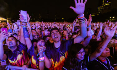 Fans gather on day one of Lollapalooza at Grant Park Thursday.
