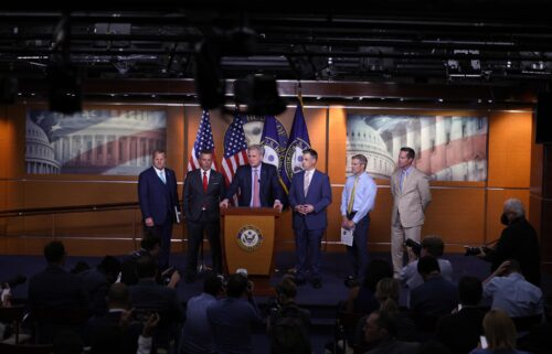 House Minority Leader Kevin McCarthy speaks at a news conference
