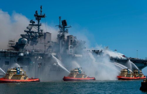 The US Navy has charged a sailor in connection with the 2020 fire that destroyed the USS Bonhomme Richard amphibious warship while it was in port in San Diego