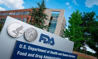 A sign for the Food And Drug Administration is seen outside of the headquarters in White Oak