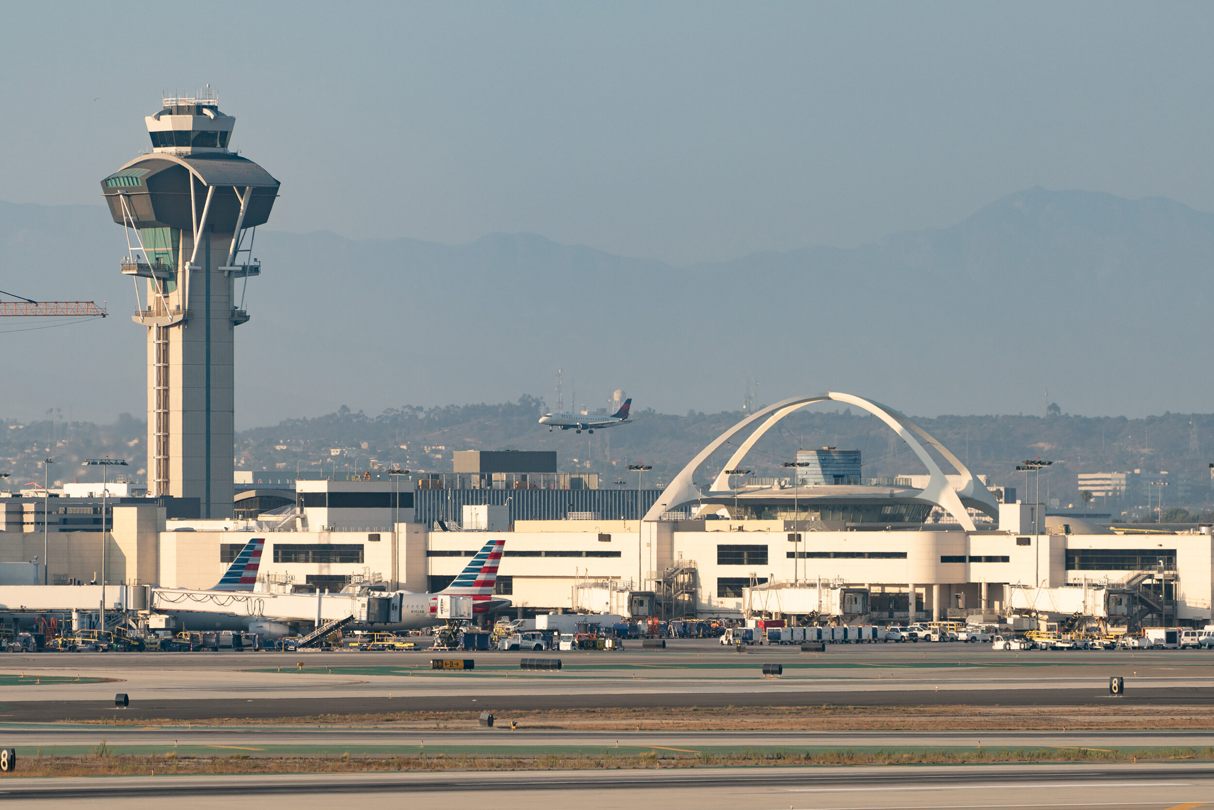 <i>AaronP/Bauer-Griffin/GC Images/Getty Images/FILE</i><br/>Air traffic controllers warned pilots that a person in a jetpack was spotted flying near LAX.