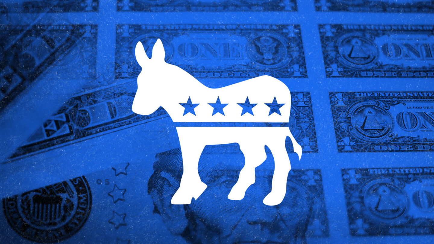 <i>CNN Illustration/Getty Images</i><br/>Democratic donors donated $289 million through the online fundraising platform ActBlue during the second quarter of this year.