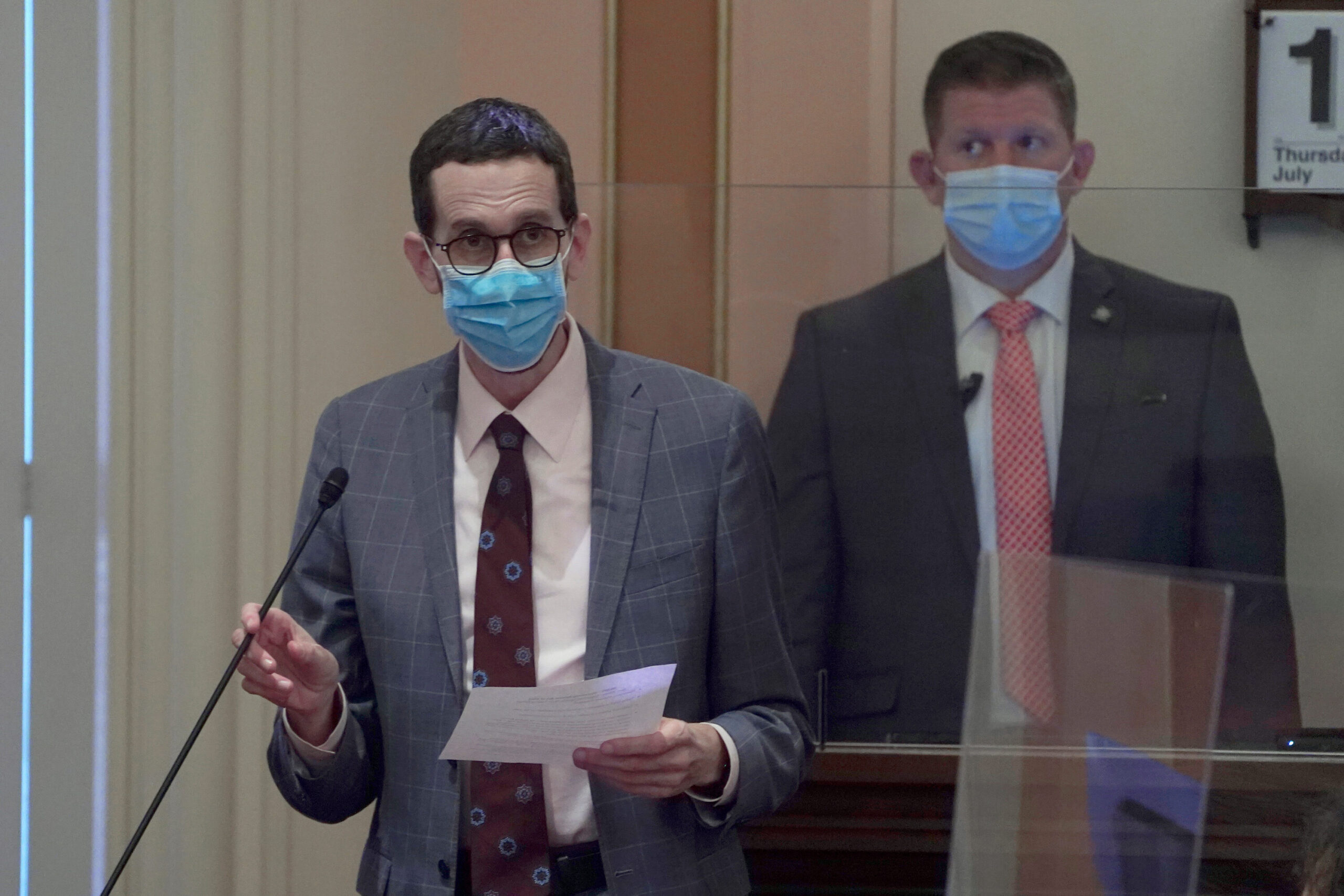 <i>Rich Pedroncelli/AP</i><br/>California State Sen. Scott Wiener criticized a district appeals court's decision to overturn part of an anti-discrimination bill for LGBTQ nursing home residents that prohibited staff from deliberately misgendering transgender residents.