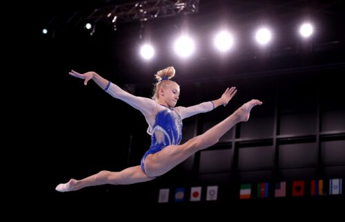 Viktoriia Listunova of the ROC competes in balance beam during the Women's Team Final at Tokyo 2020. The Russian Olympic Committee (ROC) won a dramatic women's team gymnastic final to take the gold medal after Team USA was hit by the withdrawal of Simone Biles.