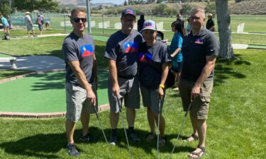 Pocatello Mayor Brian Blad and other public officials participate in Putt Putt Tournament at Outback Golf Park