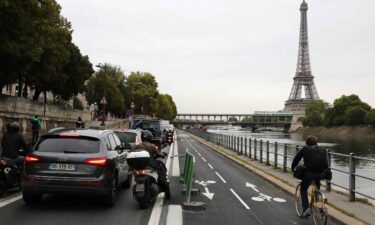 Authorities in the French capital of Paris are forcing drivers to slow down in a bid to reduce pollution and improve road safety. Pictured is the Seine River in Paris.