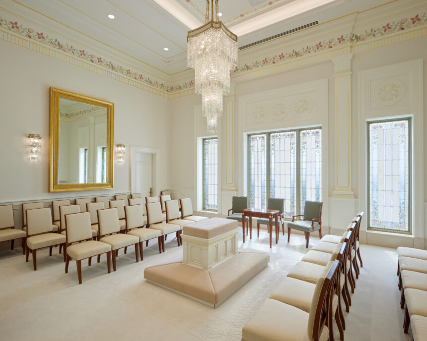 A sealing room in the Pocatello Idaho Temple_2021 by Intellectual Reserve, Inc. All rights reserved.