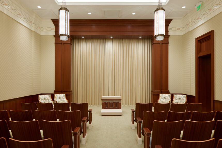 An instruction room in the Pocatello Idaho Temple_2021 by Intellectual Reserve, Inc. All rights reserved.