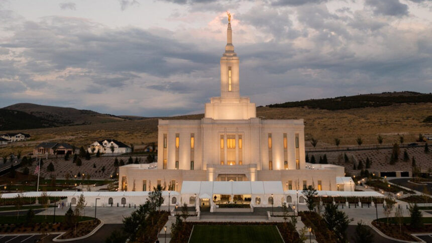 The final touches have been added to the Pocatello Idaho Temple of the Church of Jesus Christ of Latter-day Saints as the open house gets underway. This photo was taken on Sunday, Sept. 12, 2021_2021 by Intellectual Reserve, Inc. All rights reserved._
