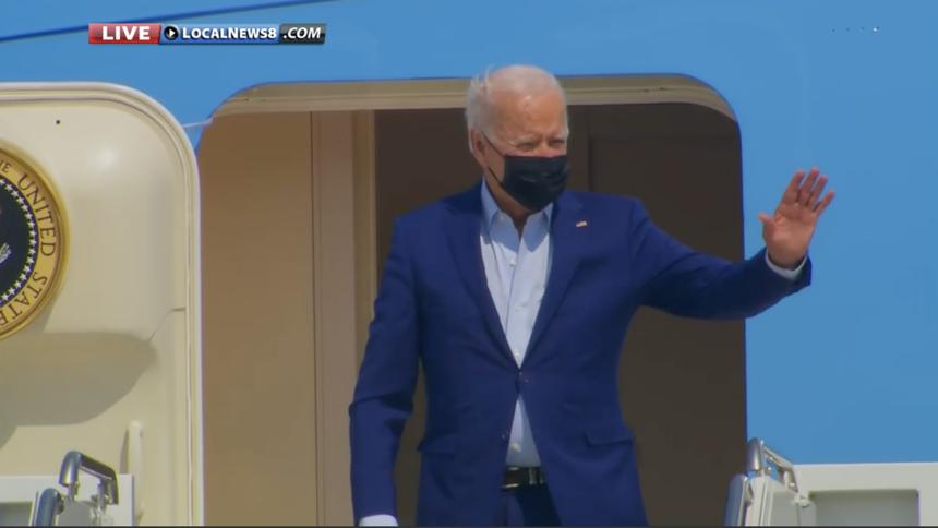 President Joe Biden visits national fire center in Boise25