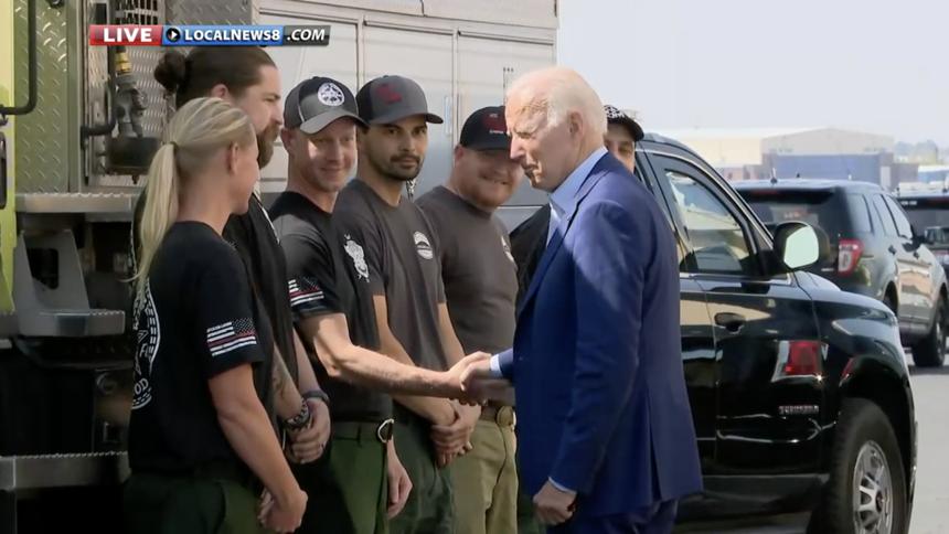 President Joe Biden visits national fire center in Boise_18