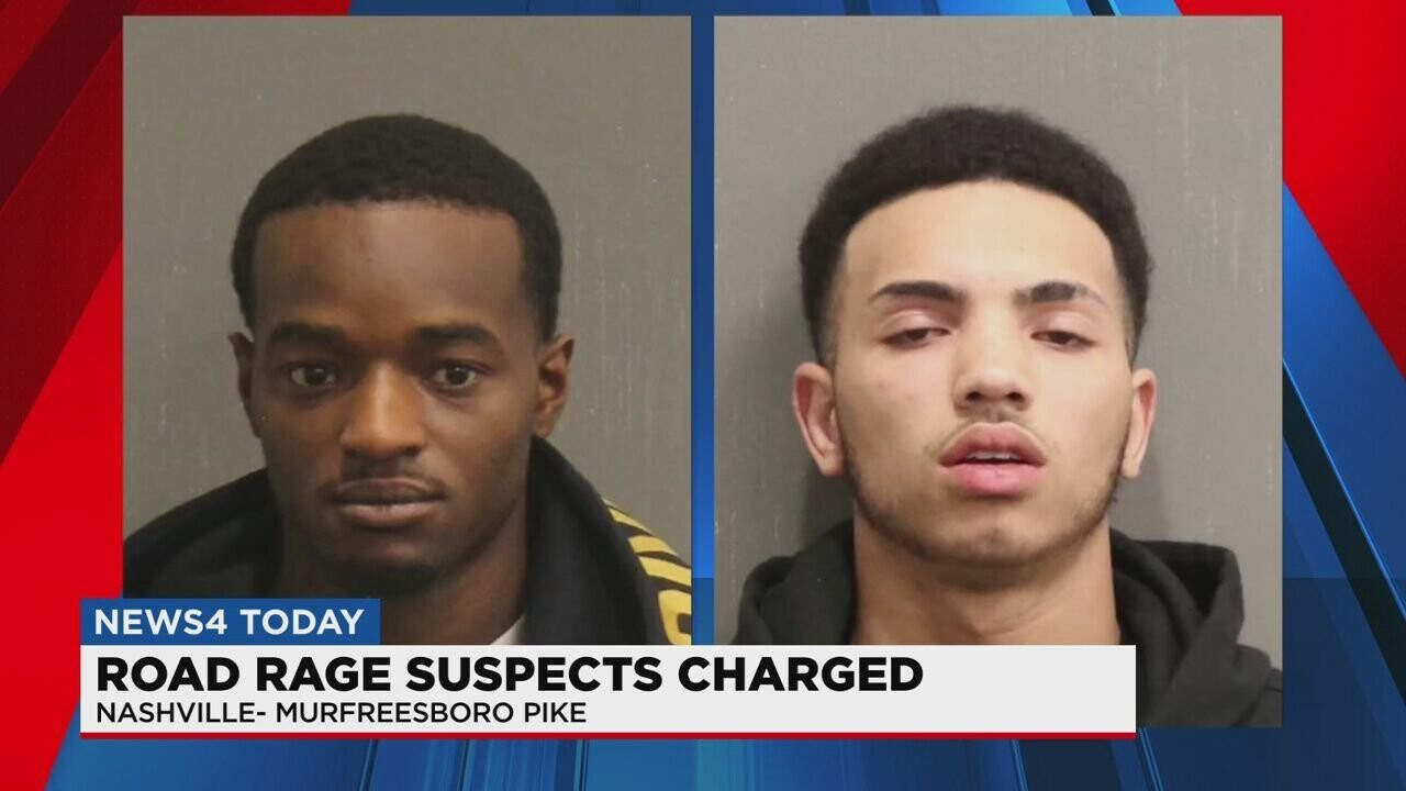 <i>Metro Police via WSMV</i><br/>Metro Police arrested two men for a road rage shooting that injured a truck driver on Murfreesboro Pike. Detectives charged 22-year-old Jemarvin Jenkins and 19-year-old Shaun Quinn-Eggleston with felony aggravated assault.