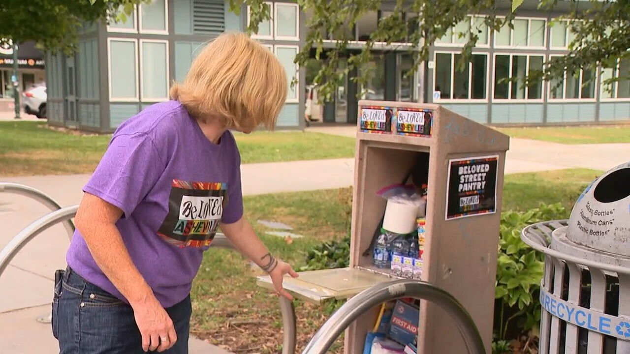 <i>WLOS</i><br/>Organizations like BeLoved Asheville are working to combat rising grocery store prices with tools like their street pantry.
