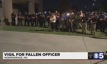 At least 300 people stood outside the Independence Police Department on Sept. 16. Many didn't even know Officer Blaize Madrid-Evans