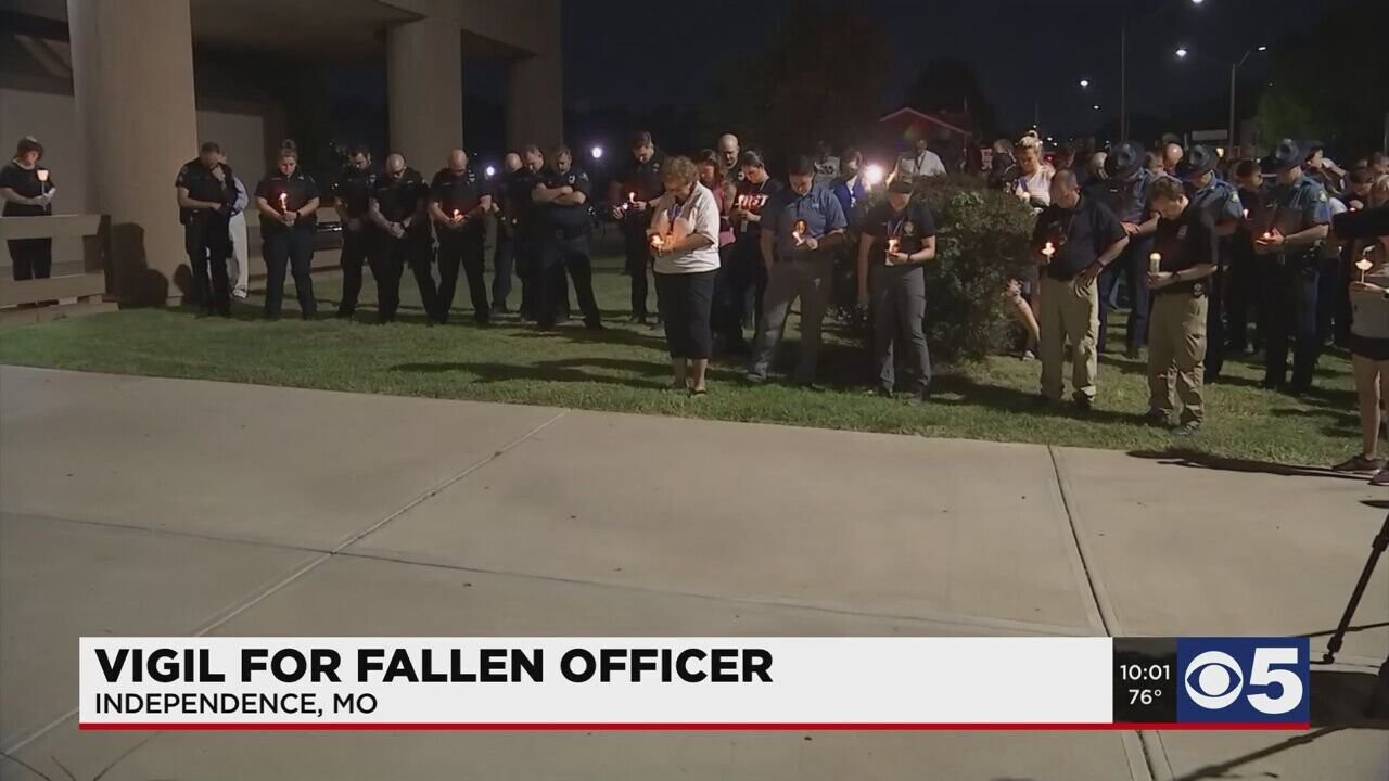 <i>KCTV</i><br/>At least 300 people stood outside the Independence Police Department on Sept. 16. Many didn't even know Officer Blaize Madrid-Evans
