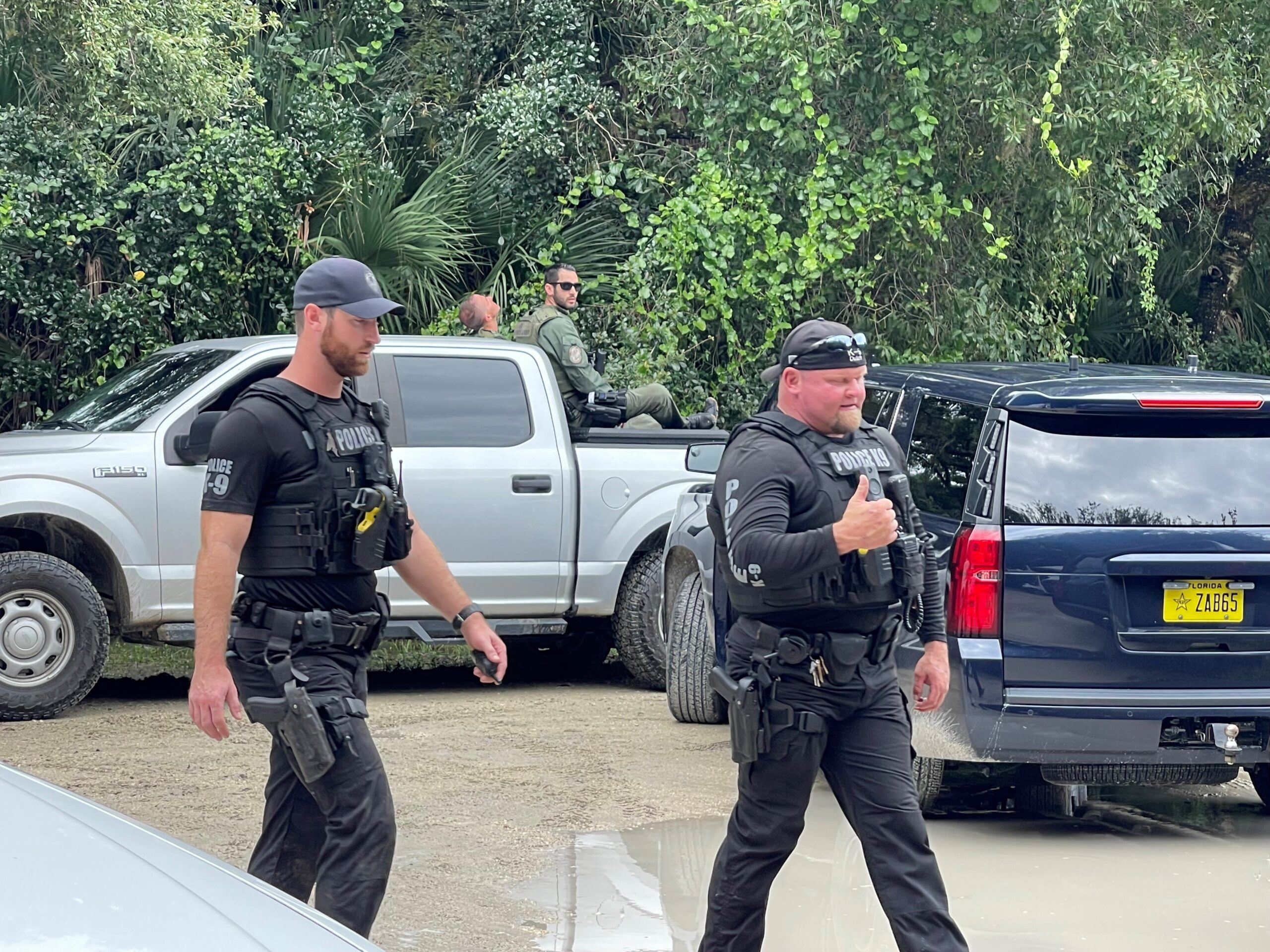<i>North Port Police</i><br/>Police and the FBI search for Brian Laundrie in the Carlton Reserve in Florida.