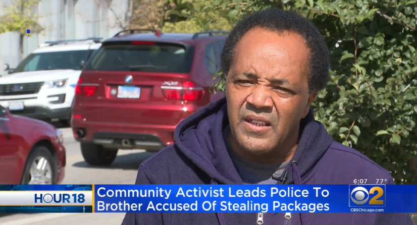 <i>WBBM</i><br/>Chicago community activist Andrew Holmes said he turned in his brother to police in connetion wtih some alleged packages thefts
