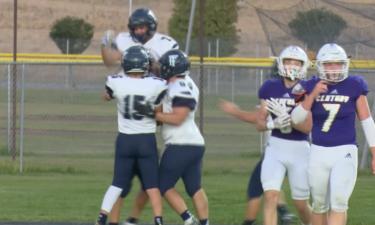 Twin Falls celebrates touchdown in 45-10 win