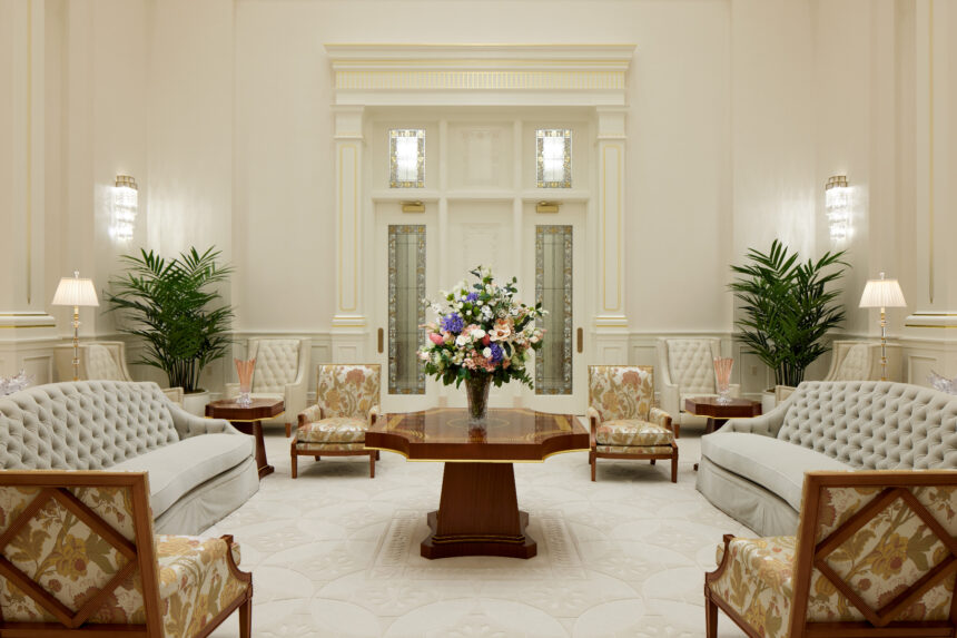 The celestial room in the Pocatello Idaho Temple_2021 by Intellectual Reserve, Inc. All rights reserved.