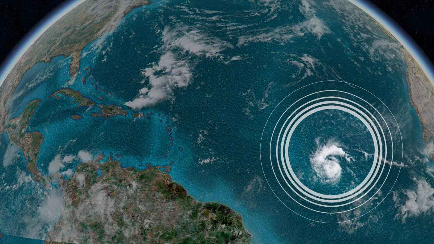 <i>CNN Weather</i><br/>Tropical Storm Sam is seen here from a satellite.
