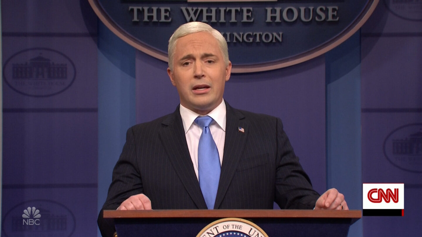 <i>NBC/Broadway Video</i><br/>Beck Bennett is leaving 'Saturday Night Live.' Bennett here performs as former Vice President Mike Pence on