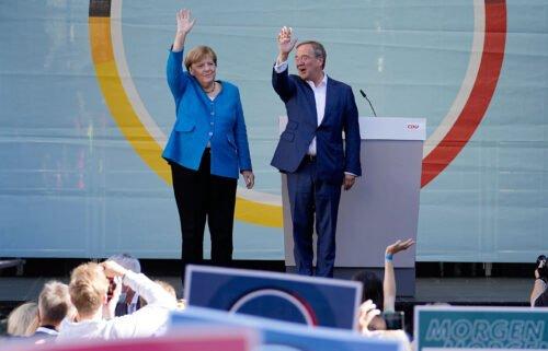 Chancellor Angela Merkel and Armin Laschet
