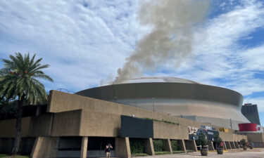 The New Orleans Fire Department responded to a fire at the Superdome on September 21.