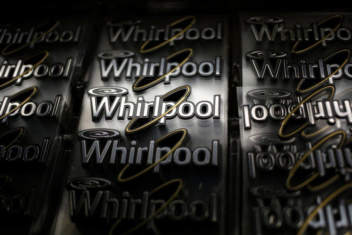 <i>Luke Sharrett/Bloomberg via Getty Images</i><br/>Whirlpool Corp. logos