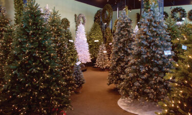 National Tree Company said its artifical Christmas Tree inventory for the upcoming holiday season is 10% below last year's level because of supply chain problems.