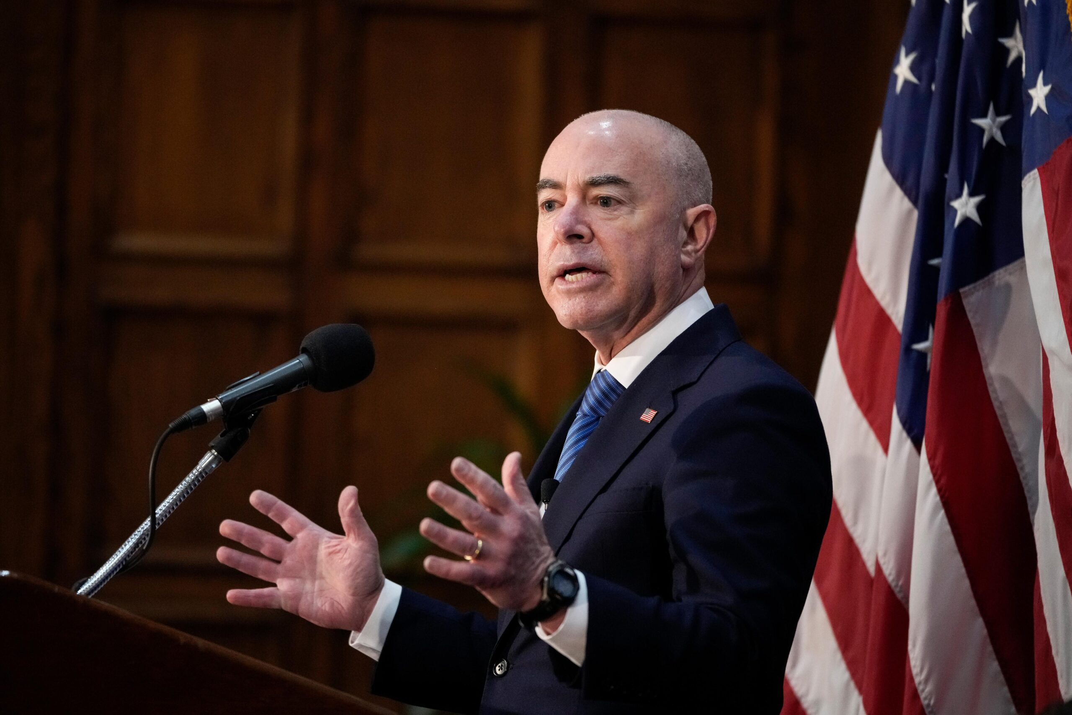 <i>Drew Angerer/Getty Images</i><br/>Homeland Security Secretary Alejandro Mayorkas on Sept. 21 said he was