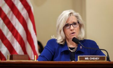 Rep. Liz Cheney speaks at a hearing investigating the January 6 attack on the US Capitol