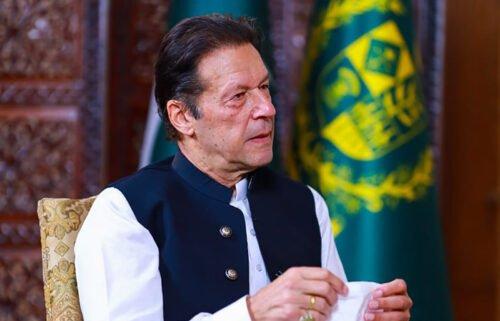 CNN's Becky Anderson interviews Pakistan's Prime Minister Imran Khan on Wednesday.