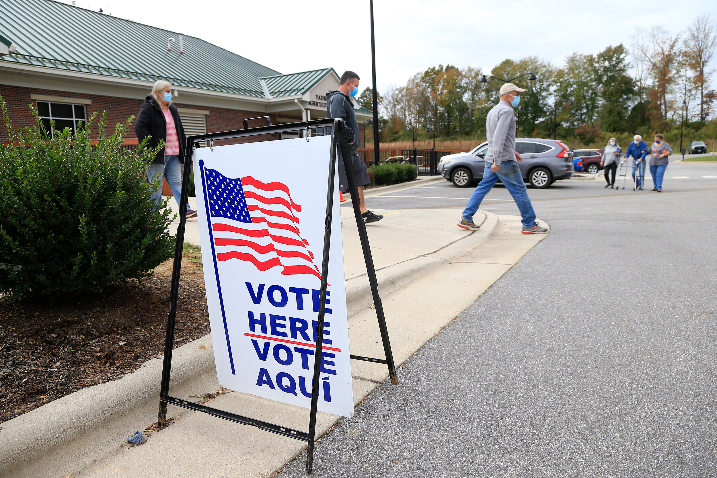 <i>Brian Blanco/Getty Images/.FILE</i><br/>A North Carolina state court panel blocked a voter identification law