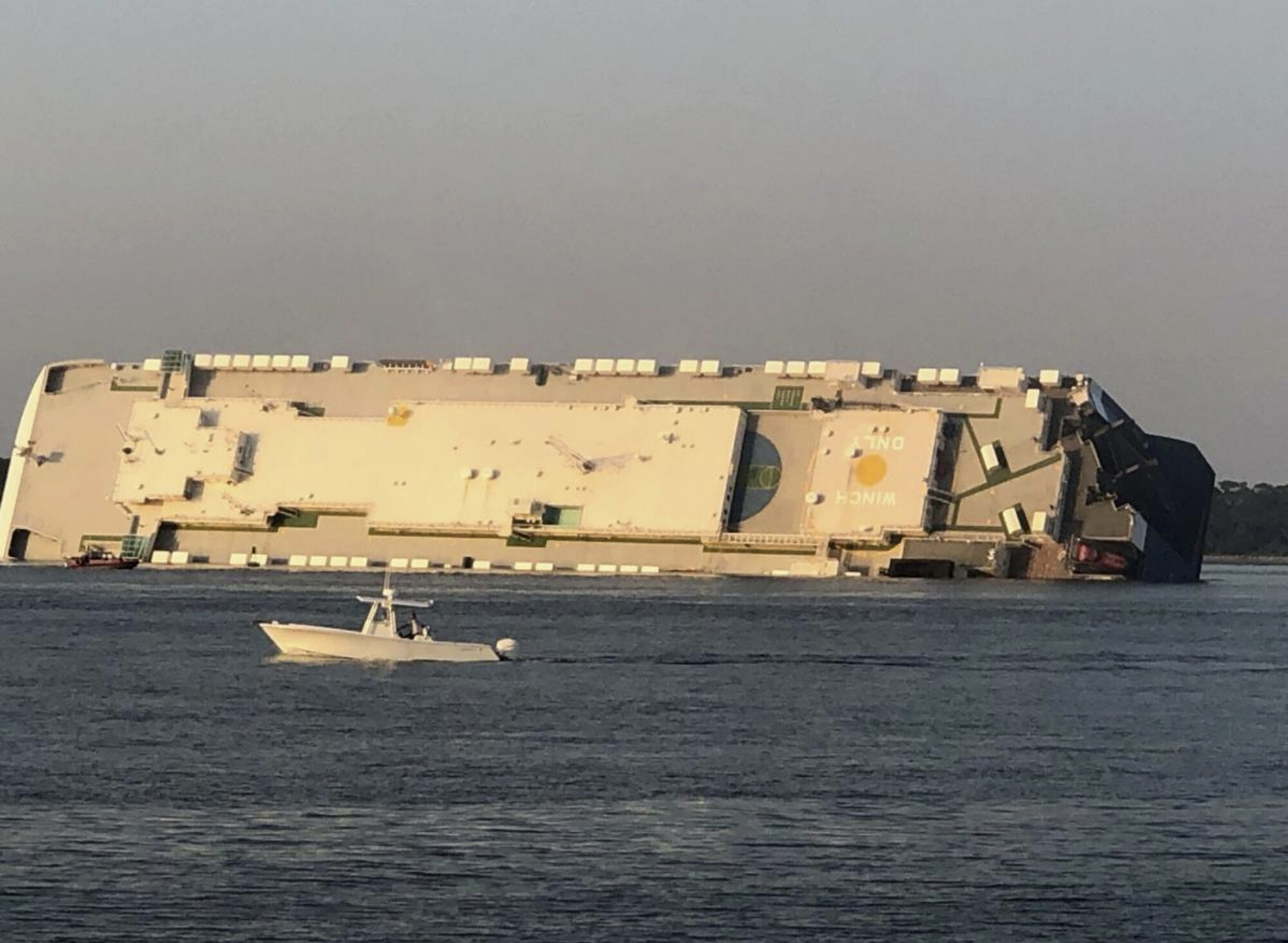 <i>Buff Leavy/The Brunswick News/AP</i><br/>The capsizing of the Golden Ray cargo ship off the Georgia coast two years ago