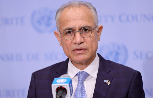 Afghanistan's UN representative Ghulam Isaczai -- an appointee of the country's former democratic government