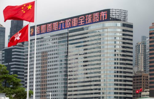 China Evergrande Centre in the Wan Chai district of Hong Kong.