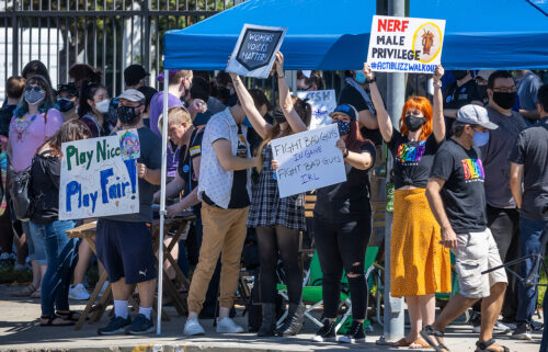 Several hundred Activision Blizzard employees stage a walkout which they say is in a response from company leadership to a lawsuit highlighting alleged harassment
