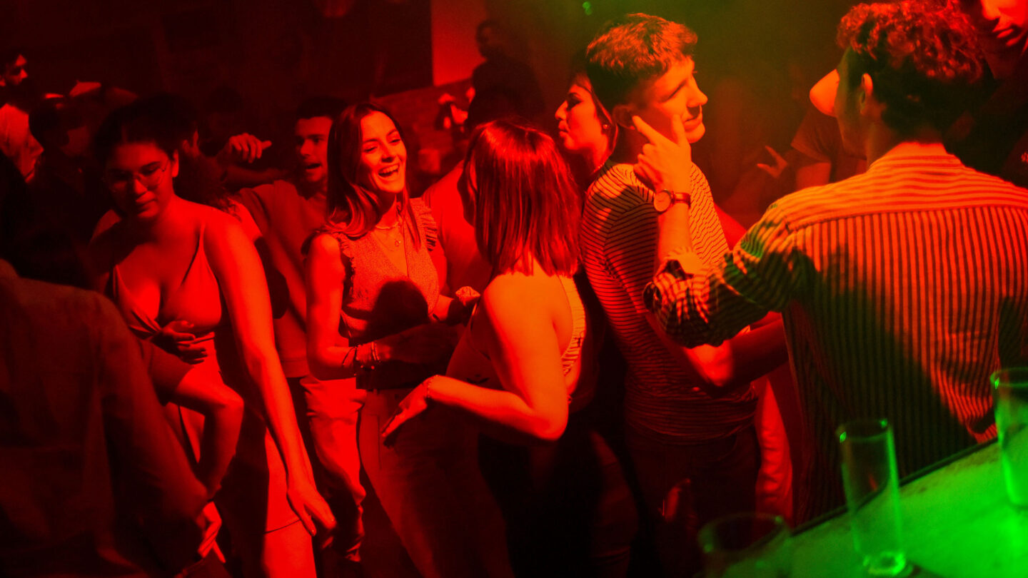 <i>Sebastien Salom-Gomis/AFP via Getty Images</i><br/>French President Emmanuel Macron imposed sweeping vaccination requirements for much of daily life. People here dance in a club in Saint-Jean-de-Monts