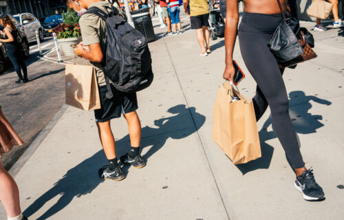 US retail sales increased last month as consumers continued to shell out on clothing