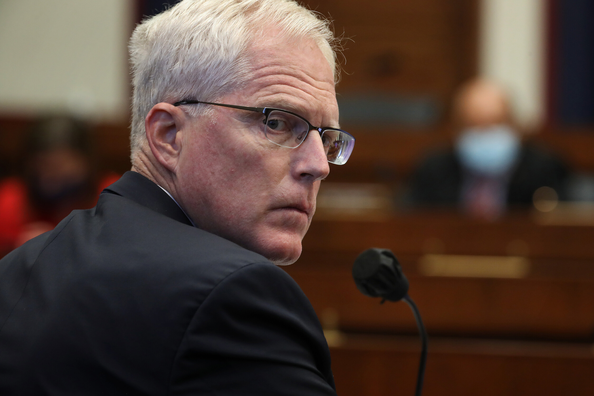 <i>Chip Somodevilla/Pool/AFP/Getty IMages</i><br/>Christopher Miller testifies before a House Homeland Security Committee in September 2020