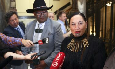 New Zealand's Māori Party campaigns to change the country's name to Aotearoa. Maori Party co-leaders Rawiri Waititi and Debbie Ngarewa-Packer here speak to the media on November 26