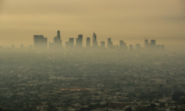 Smoke from Southern California wildfires drifts through the Los Angeles Basin
