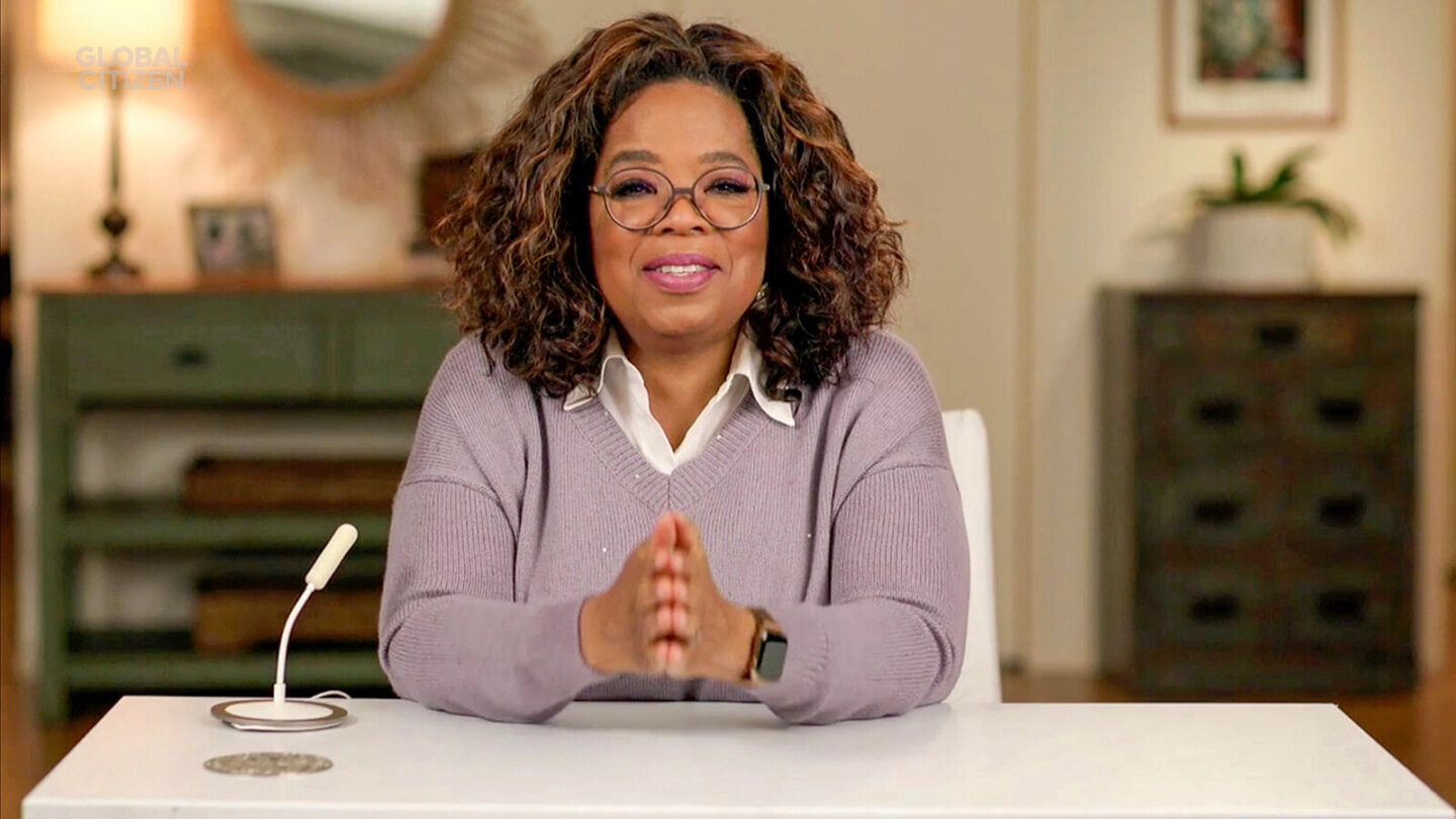 <i>Getty Images for Global Citizen</i><br/>Oprah Winfrey shares her concerns about where we are as a country in an upcoming podcast.