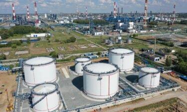 A Gazprom refinery in Omsk