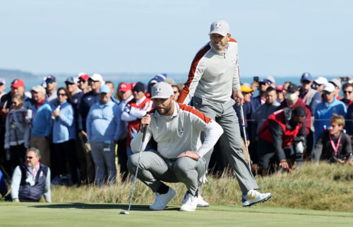 Sergio Garcia claimed his 24th Ryder Cup match victory