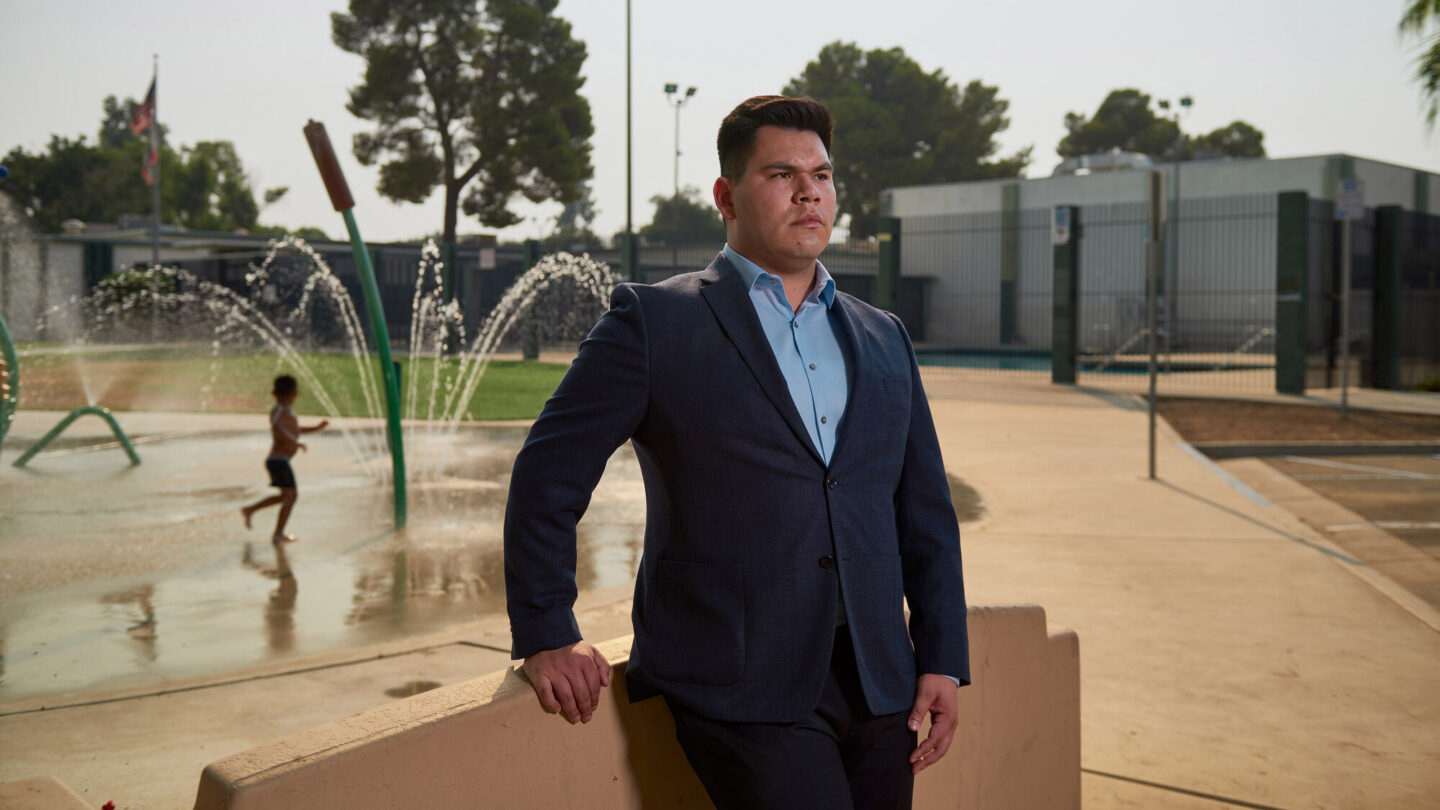 <i>Damon Casarez for CNN</i><br/>Angel Lara is a Bakersfield native running as a Democrat for California's 21st District.