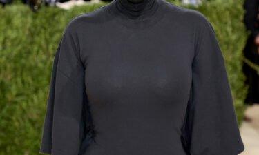 Kim Kardashian West attends The 2021 Met Gala on September 13