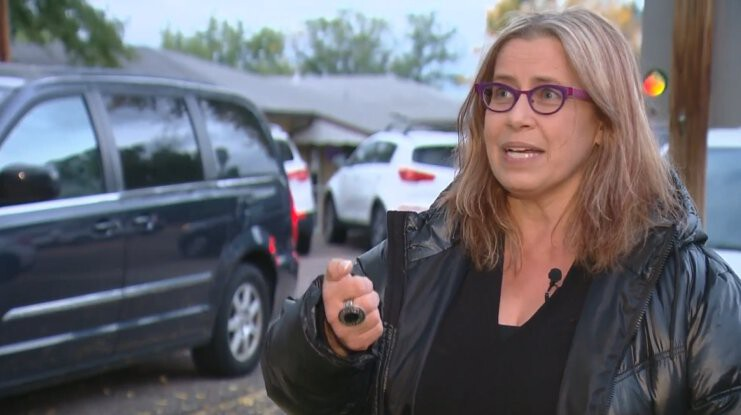 <i>KCNC</i><br/>Nora Burns.said her car was stolen in broad daylight.